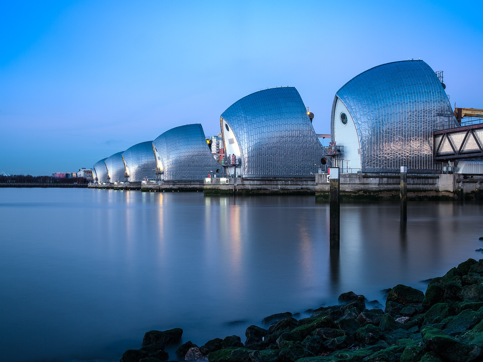 Thames Barrier - Blue and Still