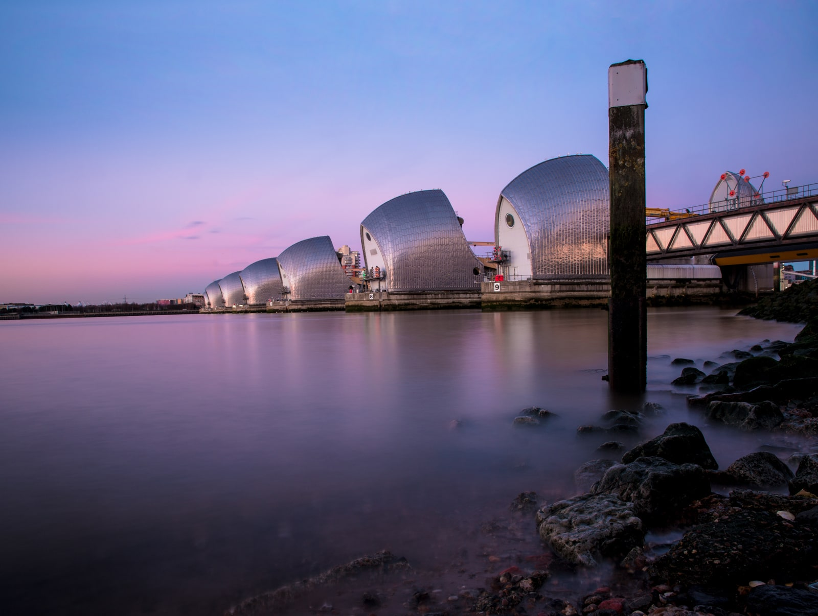 Thames Barrier Sunset