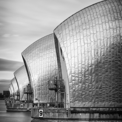 Thames Barrier Abstract Mono