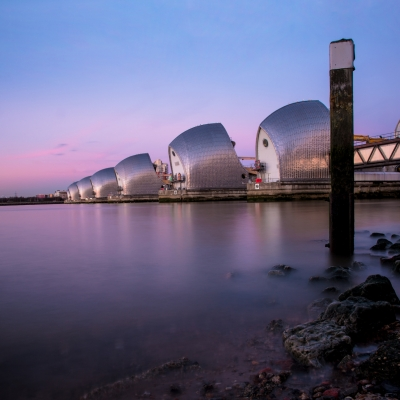 Thames Barrier Sunset